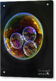 Bubble With Three Acrylic Print