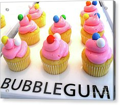 Acrylic Print featuring the photograph Bubblegum Cupcakes by Beth Saffer
