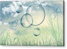 Bubbles Acrylic Print by Karen Kanaby