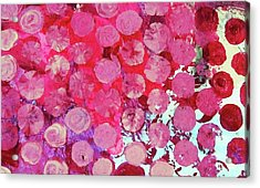Acrylic Print featuring the mixed media Bubbles by Mary Ellen Frazee
