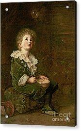 Bubbles Acrylic Print by Sir John Everett Millais