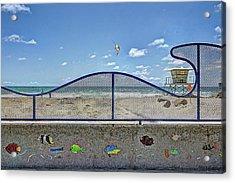 Buccaneer Beach Acrylic Print by Ann Patterson