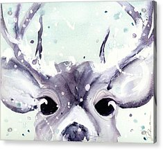 Acrylic Print featuring the painting Buck by Dawn Derman