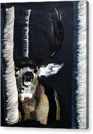 Buck Acrylic Print by Mayhem Mediums