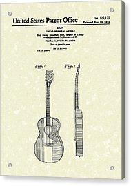 Buck Owens Guitar 1972 Patent Art  Acrylic Print