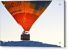 Acrylic Print featuring the photograph Bucket List by AJ Schibig