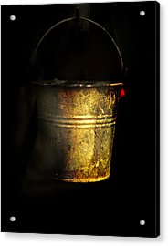 Bucket One Acrylic Print by Clyde Replogle