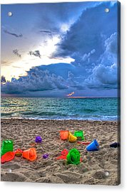 Buckets Of Sand Acrylic Print