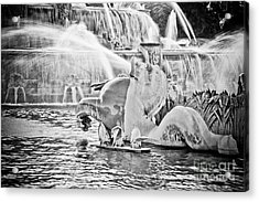 Buckingham Fountain Chicago Acrylic Print by Paul Velgos