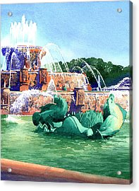 Buckingham Fountain Acrylic Print