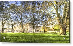 Buckingham Palace Art Panorama Acrylic Print by David Pyatt