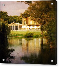 Buckingham Palace Back Yard Acrylic Print by Heidi Hermes