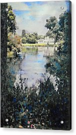 Buckingham Palace Garden - No One Acrylic Print by Richard James Digance