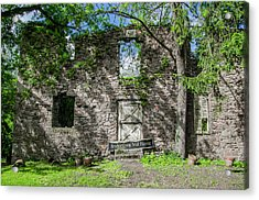 Bucks County Ruin - Bridgetown Mill House Acrylic Print by Bill Cannon