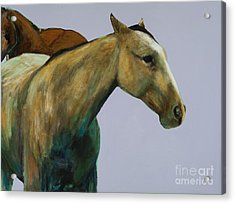 Acrylic Print featuring the painting Buckskin by Frances Marino