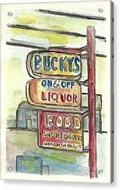 Buckys Acrylic Print by Matt Gaudian