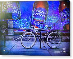 Bud Light Schwinn Bicycle Acrylic Print