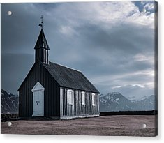 Budakirkja, The Black Church Acrylic Print