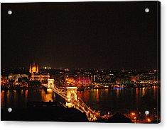 Budapest At Night Hungary Acrylic Print by Eva Ramanuskas