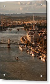 Acrylic Print featuring the photograph Budapest In The Morning Sun by Jaroslaw Blaminsky
