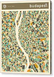 Budapest Map 2 Acrylic Print