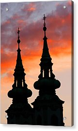 Acrylic Print featuring the photograph Budapest Sunset by KG Thienemann