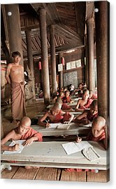 Acrylic Print featuring the photograph Buddah School by Matthew Bamberg