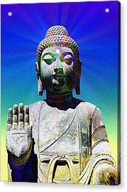 Buddha Blue Acrylic Print