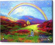 Buddha Chakra Rainbow Meditation Acrylic Print
