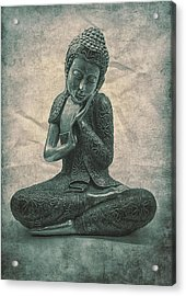Buddha Contemplate Acrylic Print by Madeleine Forsberg