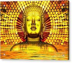 Buddha Effulgence Acrylic Print by Khalil Houri