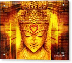 Buddha Entrance Acrylic Print by Khalil Houri