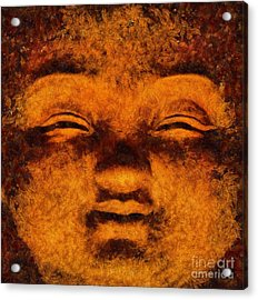 Buddha, Fire Sermon By Sarah Kirk Acrylic Print
