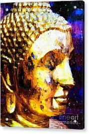 Buddha Immersion Acrylic Print by Khalil Houri