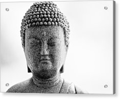 Buddha In Black And White Acrylic Print by Edward Myers