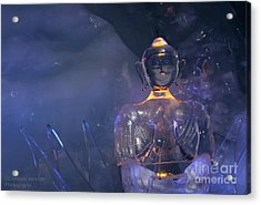 Buddha In Ice Acrylic Print