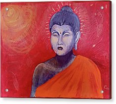 Buddha In Red Acrylic Print