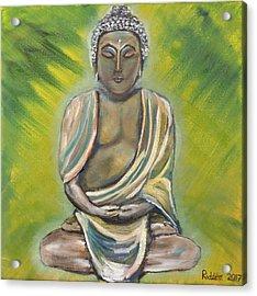 Buddha Acrylic Print by Kimberley Riddett