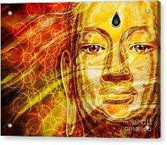 Buddha Mandala Acrylic Print by Khalil Houri