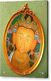 Buddha Mirror Acrylic Print by Robby Donaghey