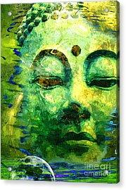 Buddha Moon Acrylic Print by Khalil Houri