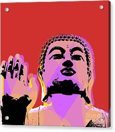 Buddha Pop Art  Acrylic Print by Jean luc Comperat
