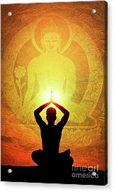 Acrylic Print featuring the photograph Buddha Prayer by Tim Gainey