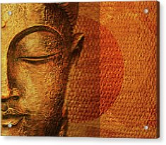 Buddha  Acrylic Print by Sir Josef - Social Critic - ART