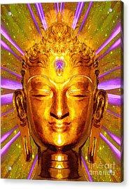 Buddha Smile Acrylic Print by Khalil Houri