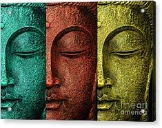 Buddha Statue Acrylic Print by Mark Ashkenazi