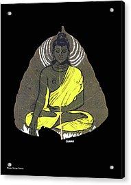 Acrylic Print featuring the painting Buddha by Suhas Tavkar