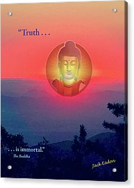 Buddha Sunset Acrylic Print by Jack Eadon