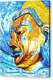 Buddha Surf Acrylic Print by Khalil Houri