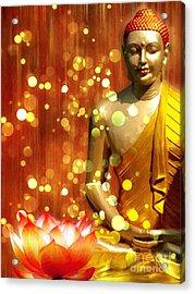 Buddha Synthesis Acrylic Print by Khalil Houri